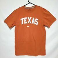 Nike Mens Small Orange Texas T Shirt Short Sleeve University of Texas UT Cotton