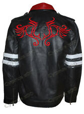 MEN'S GAMING ALEX MERCER PROTOTYPE ACTION GAME REAL LEATHER JACKET WITH DRAGONS
