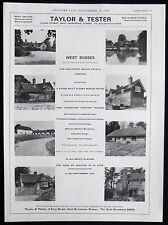 WALLHURST MANOR ESTATE COWFOLD VILLAGE WEST SUSSEX ESTATE AGENT ADVERT 1976