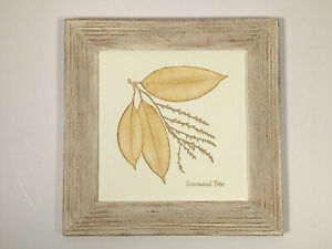 Marks & Spencer Hand Painted 3D Wall Hanging Plaque With Sourwood Tree Leaves