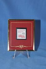Texas Stamps Co. Framed Fire Engine 20.5 cent stamp on red matte from 1988