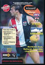 2003 Wizard St Kilda vs North Melbourne Kangaroos Ballarat Football Record