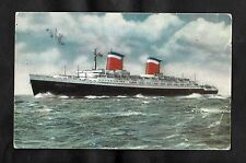 Posted C1960s view of the passenger liner S.S United States