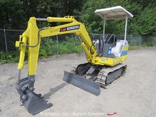 Komatsu PC10-2 Mini Hydraulic Excavator 20HP Diesel Metal Tracks Backfill Blade