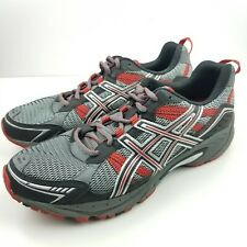 Asics Mens Gel Venture 4  (T333N) Athletic Running Shoes Red Black Gray Size 8