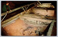Saltpeter Saltpetre Leaching Vats in Mammoth Cave Park, Kentucky Postcard Unused