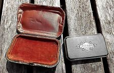 XXRARE COIN SILVER CARD WALLET DATED APR 23 1857 W/CARD IN ORIG LEATHER CASE XC+