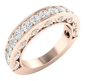 Genuine Diamond VS1 E 1.50 Ct Anniversary Wedding Ring Appraisal 14K Rose Gold