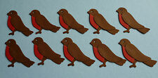 ASSEMBLED LITTLE ROBIN REDBREAST DIE CUTS FOR CARD TOPPERS / EMBELLISHMENTS
