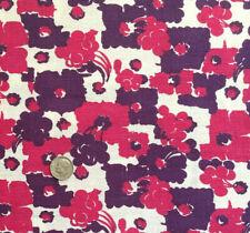 "Vintage Full Feed/Flour Sack  Pink & Purple Floral w/Fruit  48"" x 34"""