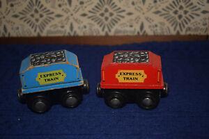 EXPRESS TRAIN 240 & 241 set2 Wooden Tenders Only work w/Thomas & Friends Railway