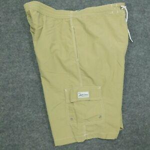 POLO RALPH LAUREN Swim Trunks Board Shorts Cargo Pocket Cursive Logo Khaki  L