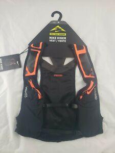 Nike Trail Running Kiger Unisex Hydration Vest Black/ Orange  Large