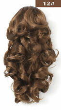OneDor 12 Inch Jaw Claw Clip Wavy Ponytail Hair Extensions - Light Brown