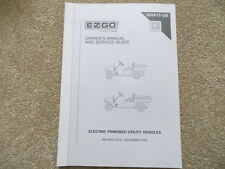 EZGO Electric Utility Vehicle MPT800 1000 Operator & Service Guide (ref77)