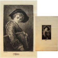 Portrait à identifier Jean-Baptiste Greuze gravure taille douce Benjamin Damman