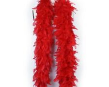 NEW RED FEATHER BOA- 6 FOOT
