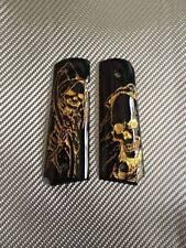 Gorgeous Gold Devil Black Resin Grip For Colt 1911 Government Full Size Kimber