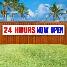 24 Hours Now Open Advertising Vinyl Banner Flag Sign Large Huge Xxl Size