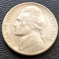 USA 1938 S Jefferson Nickel 5 Cent Top Erhaltung BU Unzirkuliert #24941