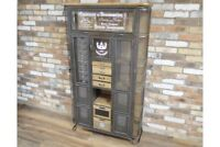 Large Vintage Industrial Cabinet Multi functional & Retro Cool Display Cabinet