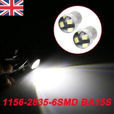 10x White 1156 BA15S 6 SMD LED P21W COB Car Reverse Turn Tail Light Bulbs UK