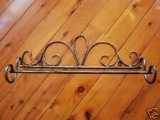 Iron French Style Towel Rail Antique Brown 50cm