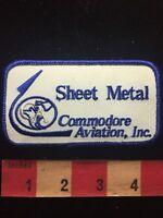 Vtg COMMODORE AVIATION INC. SHEET METAL Airplane Patch - Aircraft Plane 70V8