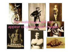 Old VINTAGE Antique CIRCUS PERFORMER Photos ATC ACEO