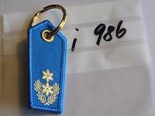 Polizei Schlüsselanhänger Schulterstück blau Eichenlaub und 2Sterne gold (i986-)