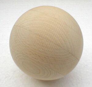 Holzkugel ohne Bohrung ~ D=100 mm ~ Rohholzkugeln Buche natur