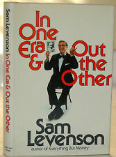 In One Era & Out The Other SAM LEVENSON SIGNED 1st Ed. Comedian Comedy Biography
