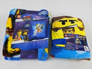 LEGO Movie Hooded Bath Towel Wrap & Blanket 2 Pc New