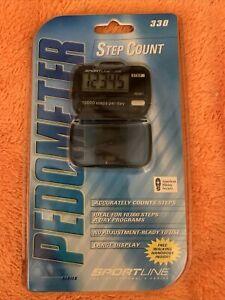 Sportline Pedometer 330 Active Series 1000 Steps Goal Distance Calories Sealed