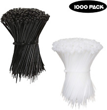 1000 Pcs 4 Inch Zip Ties Nylon 25 Lbs Uv Weather Resistant Wire Cable 2 Color