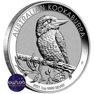 AUSTRALIE 2021 - 1$ AUD - Kookaburra - 1oz (once) argent 999,99‰ - Bullion coin