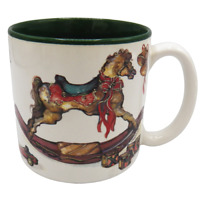Potpourri Press Christmas Mug Rocking Horse Toys 1992 Signed Christina Annual