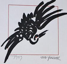 "Zie Yongder 生活园素 ""Birds and more"" I HAND SIGNED NUMBERED 85 SERIGRAPH CHINESE"