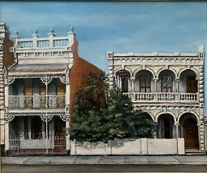 """Original Oil Painting by Terrence David Doyle (Australia) """"The Terrace's"""""""