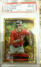 2012 Topps Update Gold Sparkle BRYCE HARPER US183 RC Rookie PSA 10
