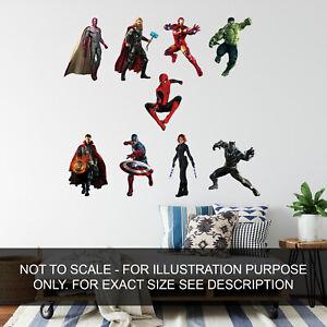 Marvel Avengers Superheroes children Indoor/Outdoor vinyl decal wall art sticker