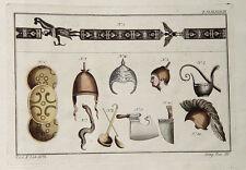 Casco Júpiter romanos flamencos hacha cuchillo aspersoir etruscos hache hacha oro Herrero