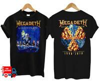 FREESHIPPING Peace Megadeth Rust T-Shirt So Metal Band Rock T-Shirt S-4XL