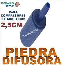 PIEDRA DIFUSORA de 2,5cm compresor AIRE Oxigenador CO2 Acuario difusor pecera