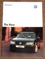 2003-04 VW BORA Sales Brochure - V5, Sport, ST, SE, S, TDI