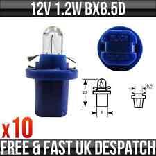 12v 1.2w BX8.5D Blue Base Dashboard, Instrument & Panel Bulbs R509TBL x 10