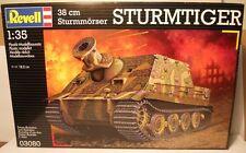 Nuevo 1/35 Kit De Plástico REVELL no 03080 38cm Sturmmorser Sturmtiger (tormenta Tiger)