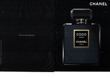 Publicité Advertising 127  2012   parfum  Coco Noir Chanel  (2 pages)