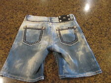 Miss Me Jeans shorts blue denim W 30 x L 9 women's 25 juniors sparkle bling