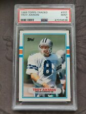 1989 TOPPS TRADED #70T TROY AIKMAN RC COWBOYS HOF PSA 9